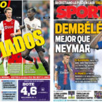2018年9月21日(金)のバルセロナスポーツ紙:デ・ヨングとデンベレ