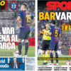 2018年9月24日(月)のバルセロナスポーツ紙:VARのせいで