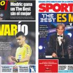 2018年9月25日(火)のバルセロナスポーツ紙:真のTHE BESTはメッシ