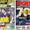 2018年9月26日(水)のバルセロナスポーツ紙:レガネスに勝ち、白組に圧力を