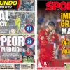 2018年9月27日(木)のバルセロナスポーツ紙:バルサもマドリーもコケた