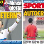 2018年10月01日(月)のバルセロナスポーツ紙:バルサ反省会と自転車バルベルデ