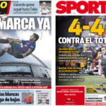 2018年10月02日(火)のバルセロナスポーツ紙:明日のトッテナム戦に向けて