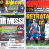 2018年10月03日(水)のバルセロナスポーツ紙:白組負けた、バルサは勝つぞ