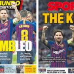 2018年10月04日(木)のバルセロナスポーツ紙:メッシとバルサ、ウェンブリーで輝く