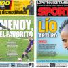 2018年10月09日(火)のバルセロナスポーツ紙:ロペテギの首元が寒い