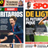 2018年10月10日(水)のバルセロナスポーツ紙:デ・リフト再浮上