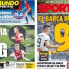 2018年10月15日(月)のバルセロナスポーツ紙:ルーチョスペインの勢い続くか