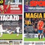 2018年10月16日(火)のバルセロナスポーツ紙:ルーチョスペインが急停止