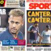 2018年10月17日(水)のバルセロナスポーツ紙:ネイマールとセントラル問題