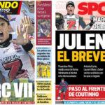2018年10月22日(月)のバルセロナスポーツ紙:マルク・マルケス 7度目の世界王者