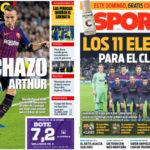2018年10月26日(金)のバルセロナスポーツ紙:エル・クラシコモードON