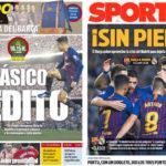 2018年10月28日(日)のバルセロナスポーツ紙:さあ エル・クラシコだ!