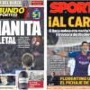 2018年10月29日(月)のバルセロナスポーツ紙:またもマニータ勝利!