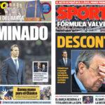 2018年10月30日(火)のバルセロナスポーツ紙:ロペテギ解任