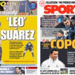 2018年10月31日(水)のバルセロナスポーツ紙:コパ、それぞれの目標とともに