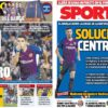 2018年11月02日(金)のバルセロナスポーツ紙:スアレスの後任とセントラル解決