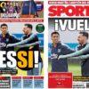 2018年11月05日(月)のバルセロナスポーツ紙:メッシがインテル戦招集!