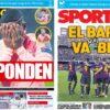 2018年11月08日(木)のバルセロナスポーツ紙:バルサ号、順調なり