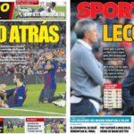 2018年11月12日(月)のバルセロナスポーツ紙:カンプノウで久々の黒星