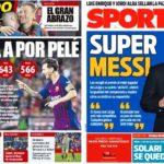 2018年11月13日(火)のバルセロナスポーツ紙:メッシは偉大なり