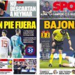 2018年11月16日(金)のバルセロナスポーツ紙:厳しくなったスペイン