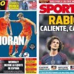2018年11月18日(日)のバルセロナスポーツ紙:オランダの新星たちとラビオ