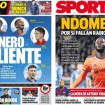 2018年11月21日(水)のバルセロナスポーツ紙:1月市場とエンドンベレ