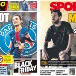 2018年11月22日(木)のバルセロナスポーツ紙:メッシの将来と、またラビオ