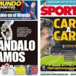2018年11月24日(土)のバルセロナスポーツ紙:ワンダ決戦とラモスの薬疑惑