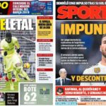 2018年11月26日(月)のバルセロナスポーツ紙:デンベレの株価再上昇