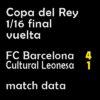 マッチレポート|国王杯 1/16 バルサ 4-1 C.レオネサ