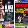 2018年12月09日(日)のバルセロナスポーツ紙:メッシこそ最高選手