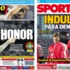 2018年12月11日(火)のバルセロナスポーツ紙:デンベレとトッテナム戦