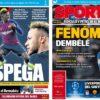 2018年12月13日(木)のバルセロナスポーツ紙:デンベレのインパクト