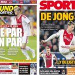 2018年12月14日(金)のバルセロナスポーツ紙:アヤックスの二人の真珠たち