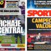 2018年12月18日(火)のバルセロナスポーツ紙:バルサのCL1/8は対リヨン