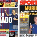 2018年12月21日(金)のバルセロナスポーツ紙:ムリージョ獲得