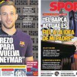 2018年12月25日(火)のバルセロナスポーツ紙:X'MAS 独占インタビュー