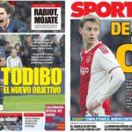 2018年12月27日(木)のバルセロナスポーツ紙:デ・リフトは諦めて、次へ