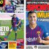 2018年12月28日(金)のバルセロナスポーツ紙:ムリージョ入団会見