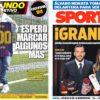 2019年1月16日(水)のバルセロナスポーツ紙:400得点メッシとアルバ
