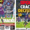 2019年1月21日(月)のバルセロナスポーツ紙:クラックパワーで勝利