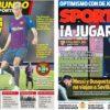 2019年1月23日(水)のバルセロナスポーツ紙:デ・ヨングとボアテング