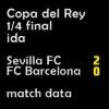 マッチレポート|国王杯1/4 セビージャ 2-0 バルサ