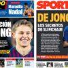 2019年1月25日(金)のバルセロナスポーツ紙:デ・ヨング獲得の余韻