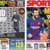 2019年1月30日(水)のバルセロナスポーツ紙:いざ、逆転を目指して