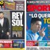 2019年2月01日(金)のバルセロナスポーツ紙:太陽のレオとスアレス