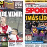 2019年2月04日(月)のバルセロナスポーツ紙:バルサのリード広がる