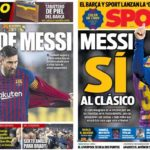2019年2月05日(火)のバルセロナスポーツ紙:メッシのコパクラシコ出場は